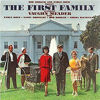 Vaughn Meador, center, on the cover of a humorous album about the Kennedys.