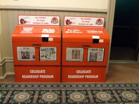 Newpapers for free to UA Students. Wow!