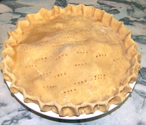 Unbaked pie, ready to go in the oven